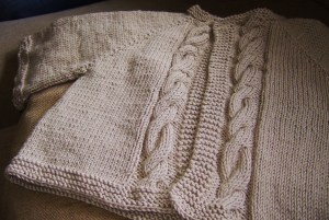 Hot off of the needles - not blocked or even washed!