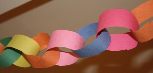 Paperchains made by the children