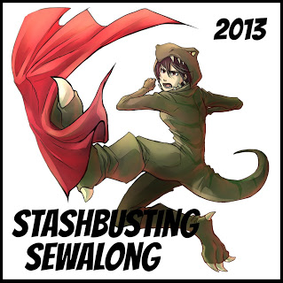 Stashbusting Sewalong Challenge Button with Text