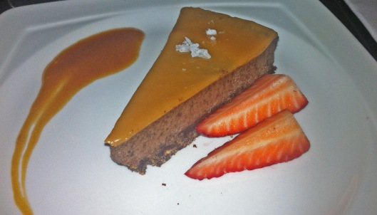 salt caramel cheesecake