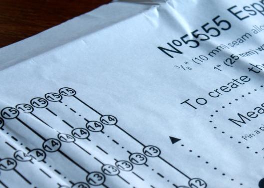 Espresso paper  pattern