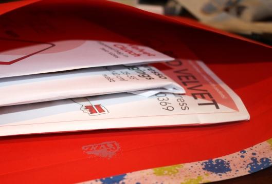 Red Velvet envelope inside