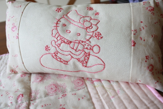 dolly kitty pillow