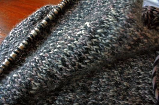 The Sweater of Doom...it really just looks like a pile of knitted fabric at the moment.