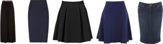 my skirts silhouettes